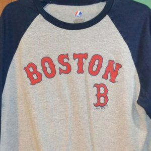 Boston Red Sox T Shirt by Majestic.Size Large